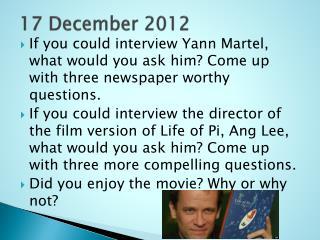 17 December 2012