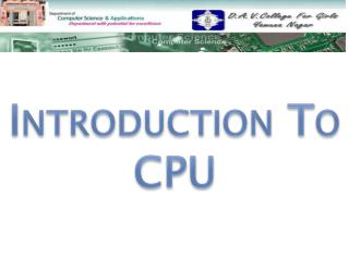 Introduction To CPU