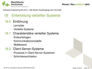 18Entwicklung verteilter Systeme