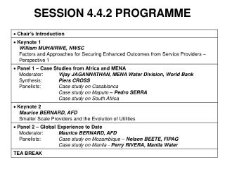 SESSION 4.4.2 PROGRAMME