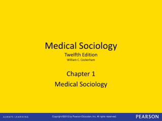Medical Sociology Twelfth Edition William C. Cockerham