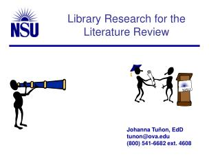 Library Research for the  Literature Review