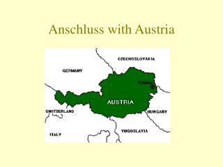 Anschluss with Austria