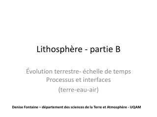 Lithosphère - partie B