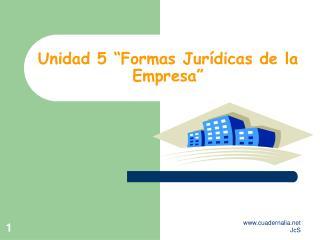 """Unidad 5 """"Formas Jurídicas de la Empresa"""""""