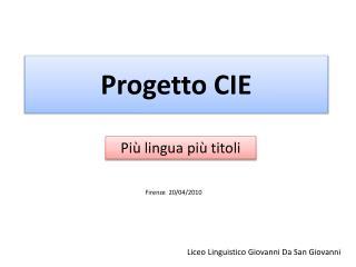 Progetto CIE