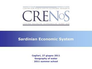 Sardinian Economic System