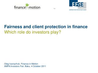 Fairness and client protection in finance