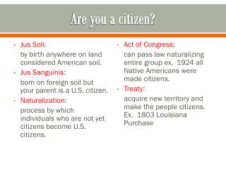 Are you a citizen?