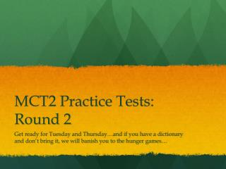 MCT2 Practice Tests: Round 2