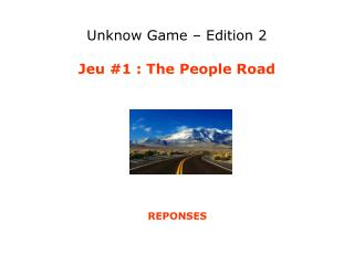 Unknow Game – Edition 2