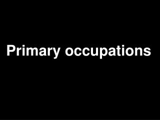 Primary occupations