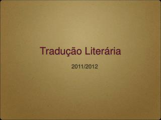 Tradução Literária
