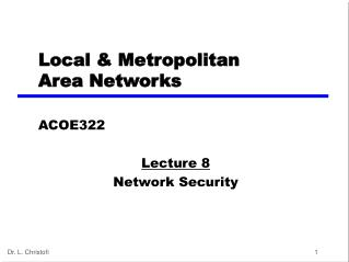 Local  &  Metropolitan  Area Networks