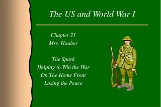The US and World War I