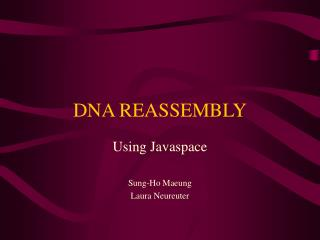 DNA REASSEMBLY