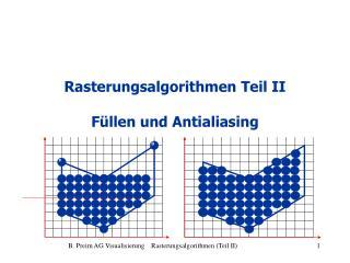 Rasterungsalgorithmen Teil II Füllen und Antialiasing