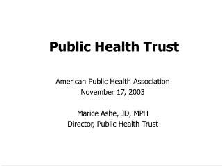 Public Health Trust