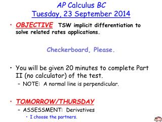 AP  Calculus  BC Tuesday, 23 September 2014