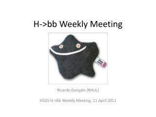 H->bb Weekly Meeting