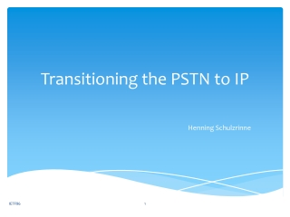 The Physical Layer: PSTN - local loop  trunks