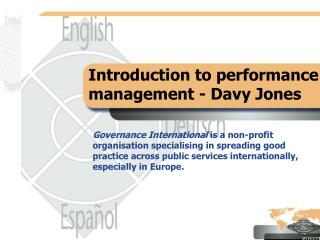 Introduction to performance management - Davy Jones