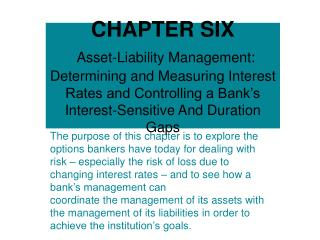 Asset-Liability Management