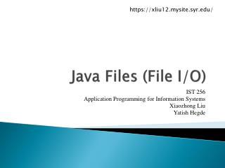Java Files (File I/O)