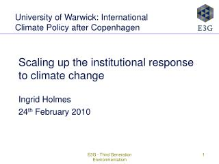 Scaling up the institutional response to climate change