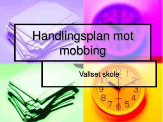 Handlingsplan mot mobbing