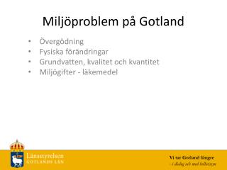 Miljöproblem på Gotland