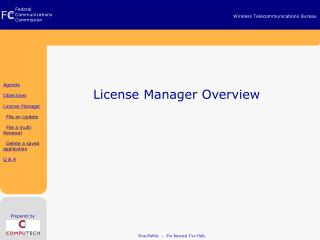 License Manager Overview