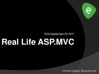 Real Life ASP.MVC