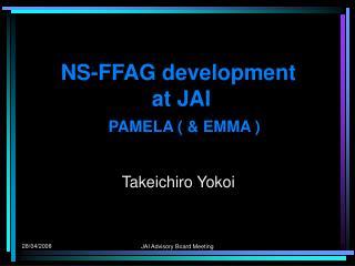 NS-FFAG development   at JAI PAMELA ( & EMMA )