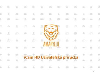iCam HD  Užívateľská príručka