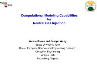 Computational Modeling Capabilities  for  Neutral Gas Injection