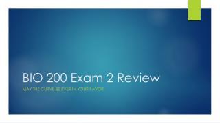 BIO 200 Exam 2 Review