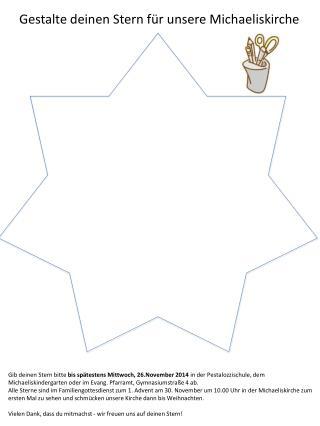 Gestalte deinen Stern f�r unsere Michaeliskirche