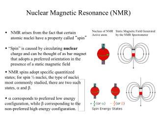 "NMR arises from the fact that certain atomic nuclei have a property called  "" spin """