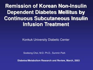 Konkuk University Diabetic Center