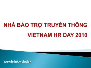 NH� B?O  TR? TRUY?N TH�NG VIETNAM HR DAY 2010