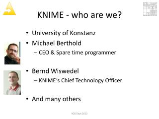 KNIME - who are we?