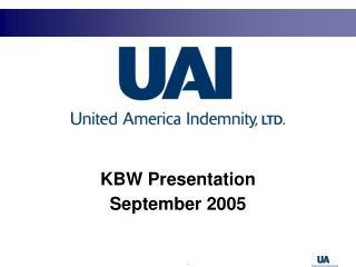 KBW Presentation September 2005