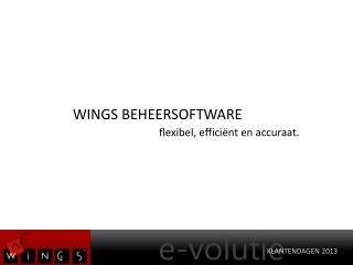 WINGS BEHEERSOFTWARE