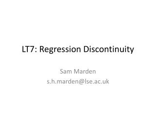 LT7: Regression Discontinuity