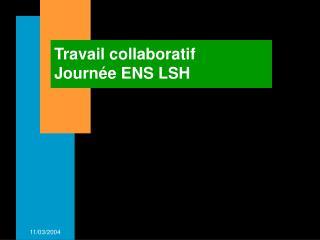 Travail collaboratif  Journée ENS LSH