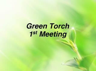 Green Torch  1 st  Meeting