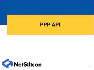 PPP API