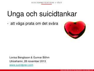 Unga och suicidtankar - att våga prata om det svåra