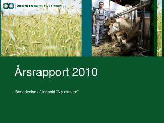 Årsrapport 2010